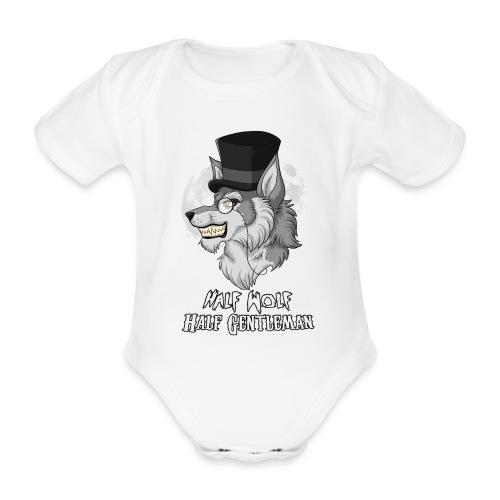 Half Wolf Half Gentleman - Ekologiczne body niemowlęce z krótkim rękawem