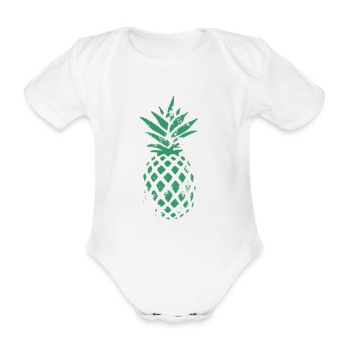 Ananas vert - Body Bébé bio manches courtes