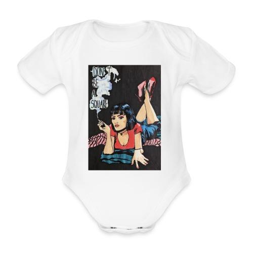 MIA WALLACE DRAWING - Body ecologico per neonato a manica corta