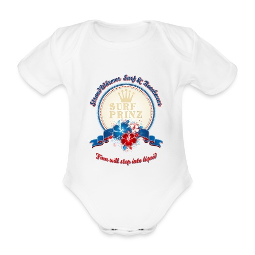 strandwarmer babybody hibiskuskreis druc - Baby Bio-Kurzarm-Body