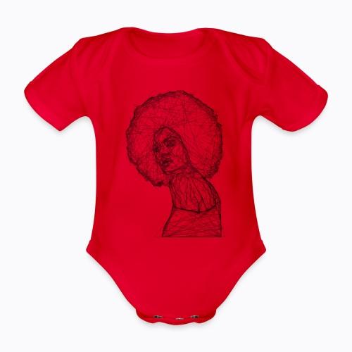 african afro - Organic Short-sleeved Baby Bodysuit