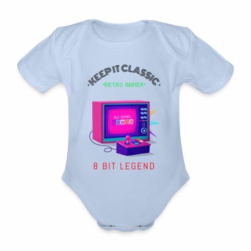 keep it classic 8bit gamer retro gaming old school - Baby Bio-Kurzarm-Body