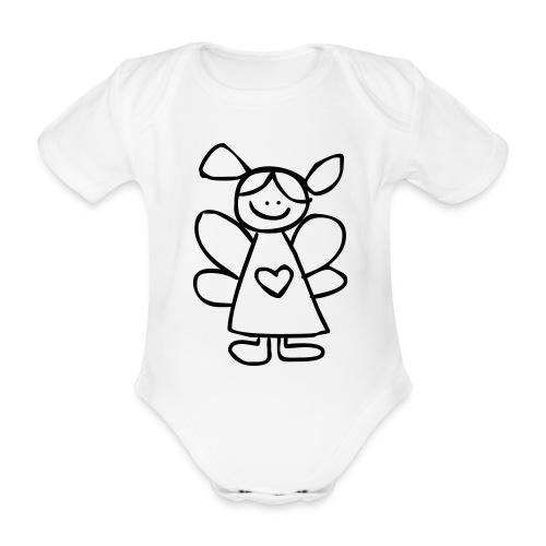 belinda's engeltje - Baby bio-rompertje met korte mouwen