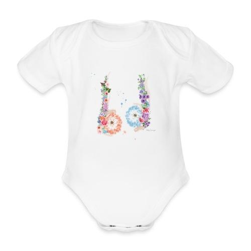 Blumen Hoden - Baby Bio-Kurzarm-Body