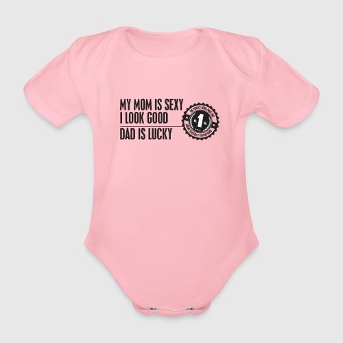 momloves png - Kortærmet babybody, økologisk bomuld