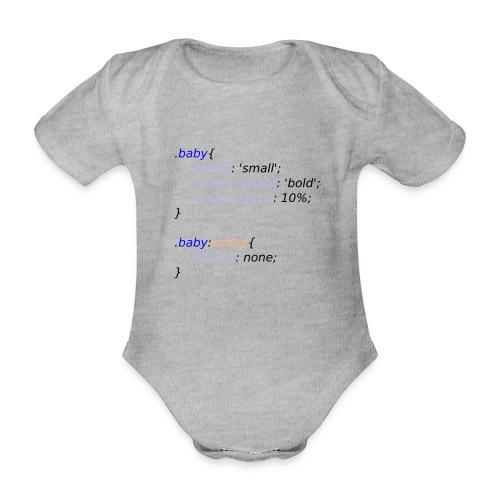 Baby with Style - Body orgánico de maga corta para bebé