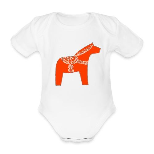 Dala by Pinni Art® rot - Baby Bio-Kurzarm-Body