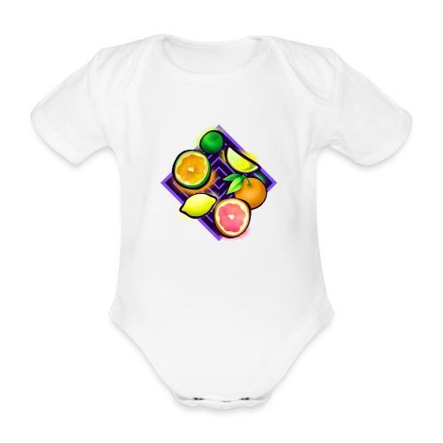 Citrus Pop Art - Baby Bio-Kurzarm-Body
