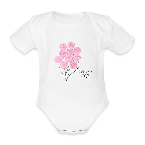 Himbeerbonbon Blumenstrauß - Baby Bio-Kurzarm-Body