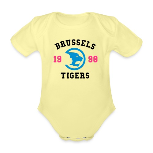 BrusselsTigers 1998BlackC - Organic Short-sleeved Baby Bodysuit