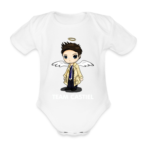 Team Castiel (dark) - Organic Short-sleeved Baby Bodysuit