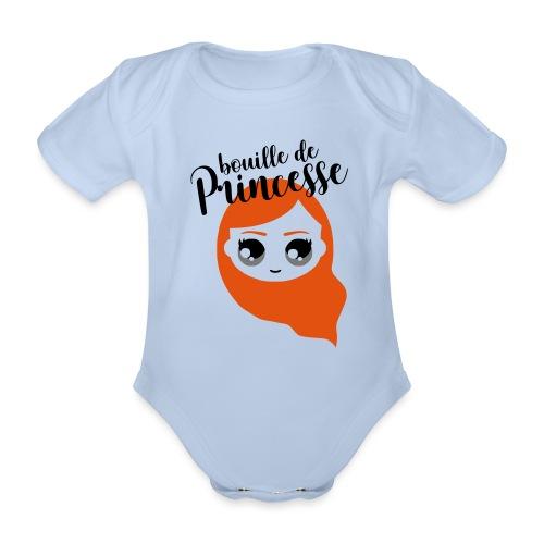 Bouille de princesse (couleurs personnalisables) - Body Bébé bio manches courtes