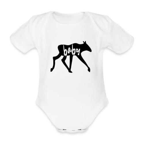Baby Elch Skandinavien Familie Geschenk - Baby Bio-Kurzarm-Body