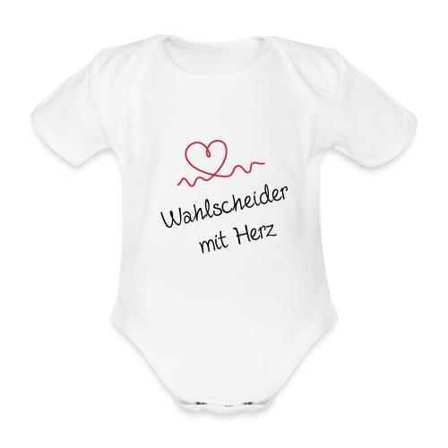 wahlscheider-mit-herz - Baby Bio-Kurzarm-Body