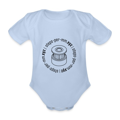 steps-per-mm Round Logo - Organic Short-sleeved Baby Bodysuit