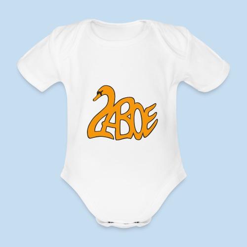 Laboe Schwan orange - Baby Bio-Kurzarm-Body