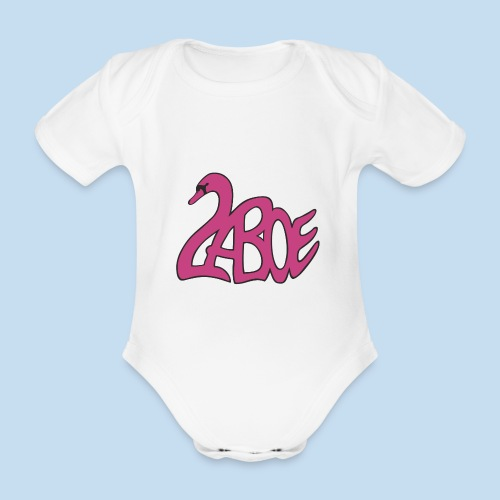 Laboe Schwan pink - Baby Bio-Kurzarm-Body