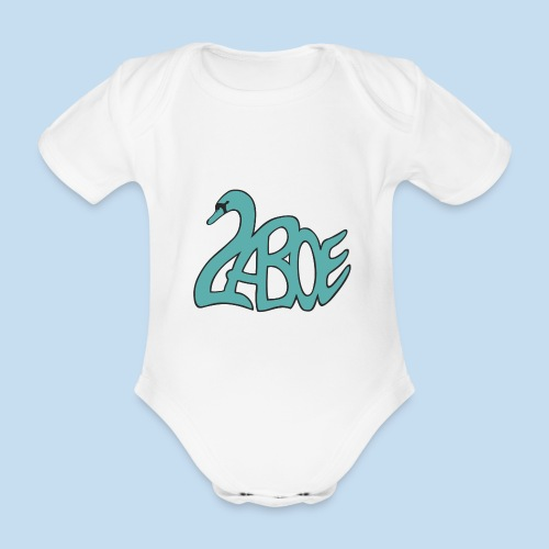 Laboe Schwan türkis - Baby Bio-Kurzarm-Body