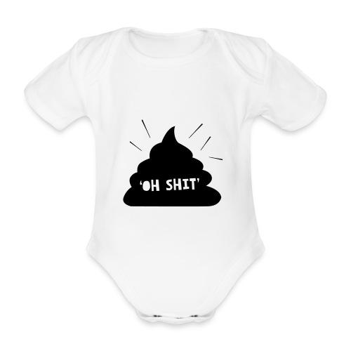 Oh Shit - Baby bio-rompertje met korte mouwen