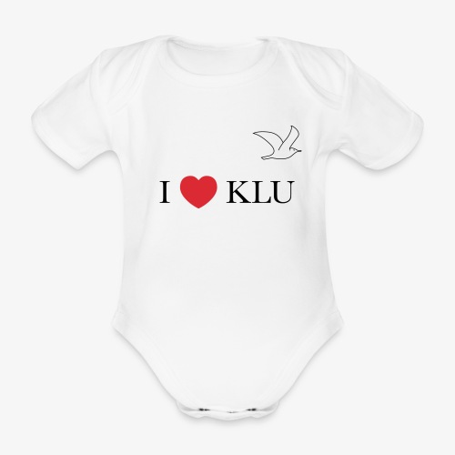 i love klu - Organic Short-sleeved Baby Bodysuit