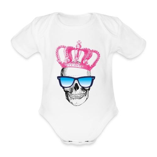 COOL SKULL - Baby Bio-Kurzarm-Body