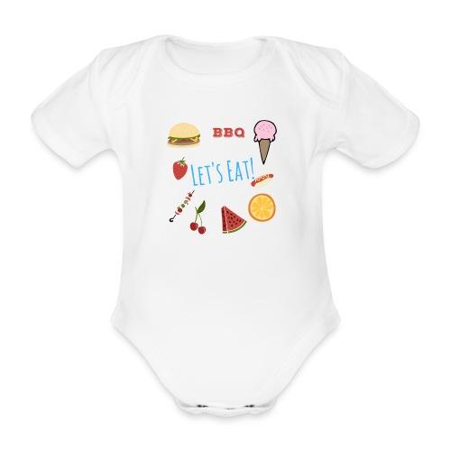 Lets Eat - Organic Short-sleeved Baby Bodysuit