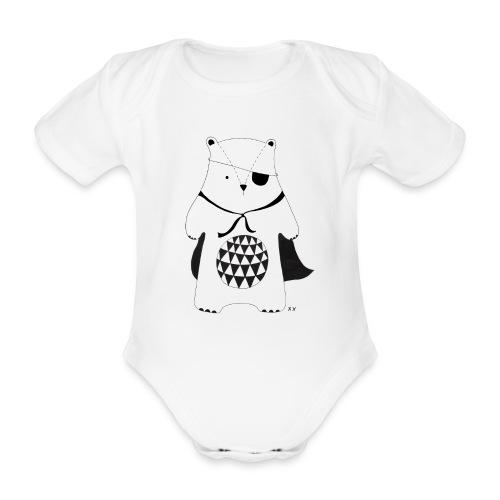 stoere beer - Baby bio-rompertje met korte mouwen