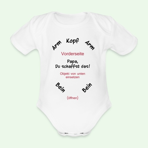 baby body strampler // Papa, Du schaffst das! - Baby Bio-Kurzarm-Body