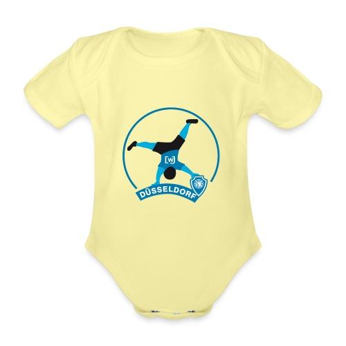 WJ Duesseldorf Radschlaeger Blau - Baby Bio-Kurzarm-Body