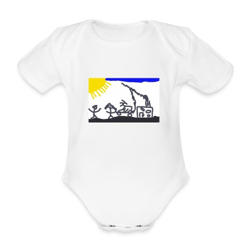 landskap - Ekologisk kortärmad babybody