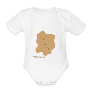 Baby bodysuit with Baby Poo - Organic Short-sleeved Baby Bodysuit