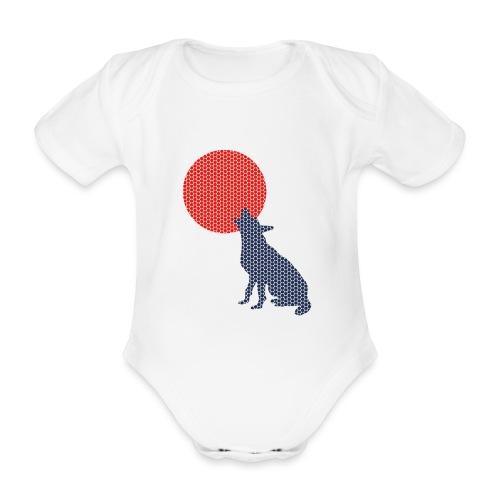 Dots Wolf - Baby Bio-Kurzarm-Body