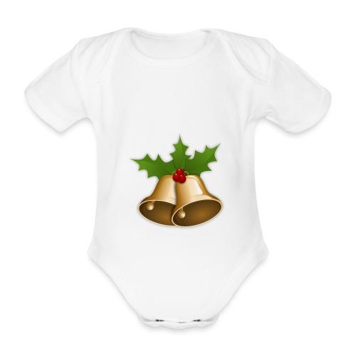 kerstttt - Baby bio-rompertje met korte mouwen