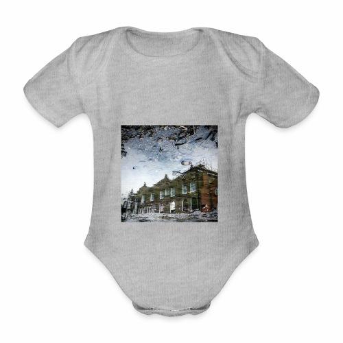 Original Artist design * Reflets - Organic Short-sleeved Baby Bodysuit
