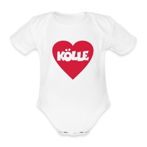 I Love Kölle - Ein Herz für Köln - Baby Bio-Kurzarm-Body