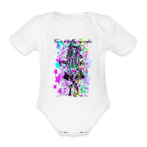 SUPERSTAR unisex - Body orgánico de maga corta para bebé