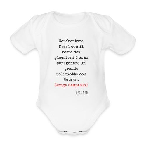 maglia 110 messi png - Body ecologico per neonato a manica corta