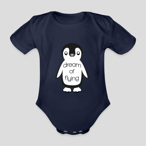 Dream of Flying Pinguin - Organic Short-sleeved Baby Bodysuit