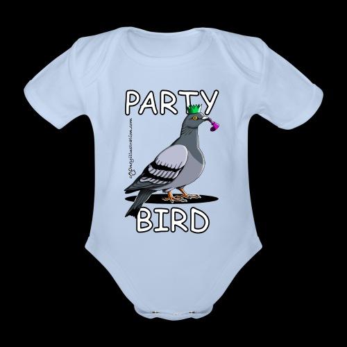 Party Bird - Organic Short-sleeved Baby Bodysuit