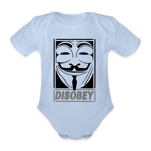 disobey - Kortærmet babybody, økologisk bomuld