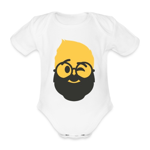 Dougsteins Wink Inverse by Dougsteins - Organic Short-sleeved Baby Bodysuit