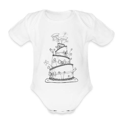 Torta - Body ecologico per neonato a manica corta