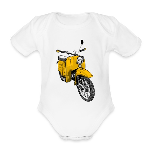 schwalbe gelb - Baby Bio-Kurzarm-Body