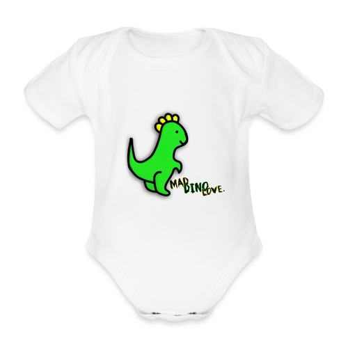 Jerry Mad Dino Love png - Organic Short-sleeved Baby Bodysuit