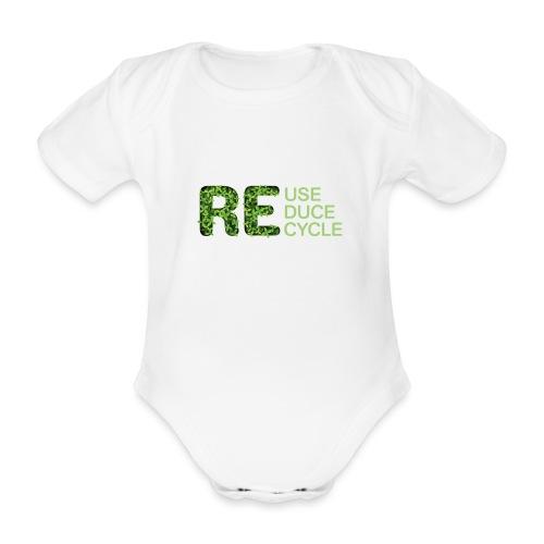 REuse REduce REcycle - Body ecologico per neonato a manica corta