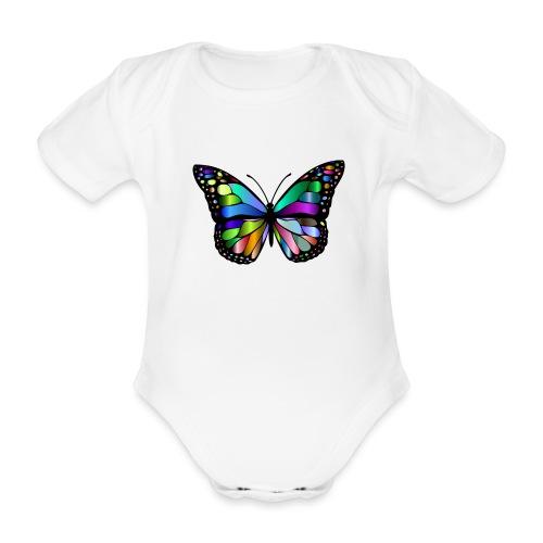 Kolorwy Motyl - Ekologiczne body niemowlęce z krótkim rękawem