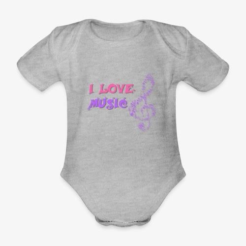Love Music - Body orgánico de maga corta para bebé