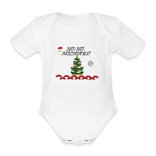 CHRISTMAS - Body orgánico de maga corta para bebé