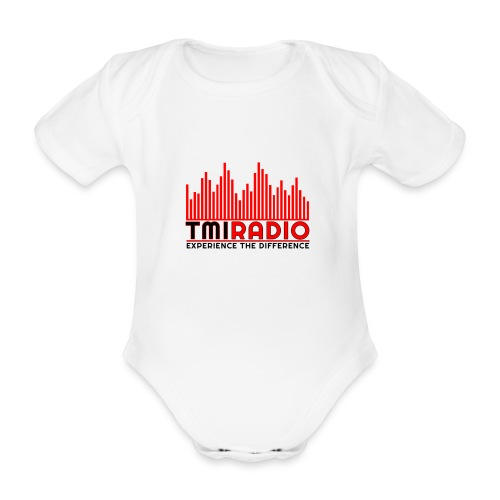 NEW TMI LOGO RED AND BLACK 2000 - Organic Short-sleeved Baby Bodysuit
