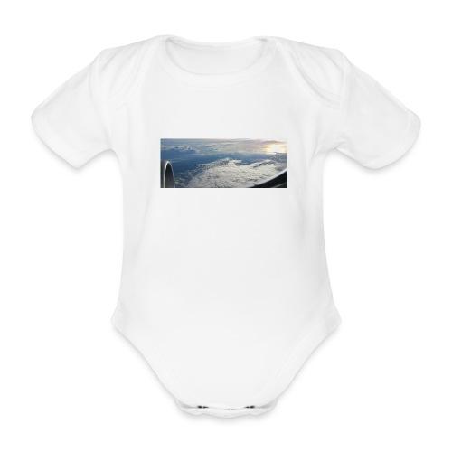 Flugzeug Himmel Wolken Australien - 2. Motiv - Baby Bio-Kurzarm-Body